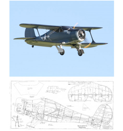 D-17 Staggerwing Plan