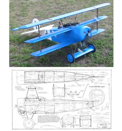 Fokker DR-1 Triplane Plan