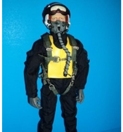 """Korean War RC Jet Pilot Figure 1/5~1/6 scale  12"""" Tall"""