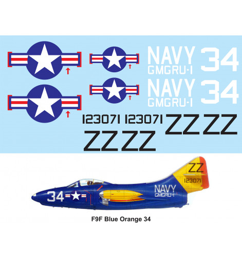 F9F Panther Navy Blue Yellow
