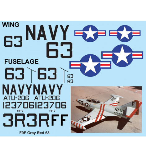 F9F Panther Navy Red Gray