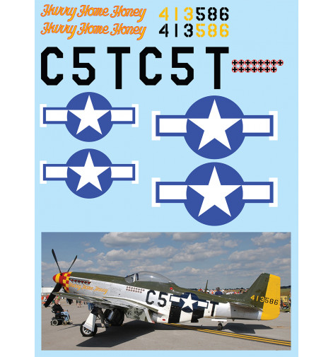 "P-51D Mustang (""Hurry Home Honey"") Vinyl Graphics"