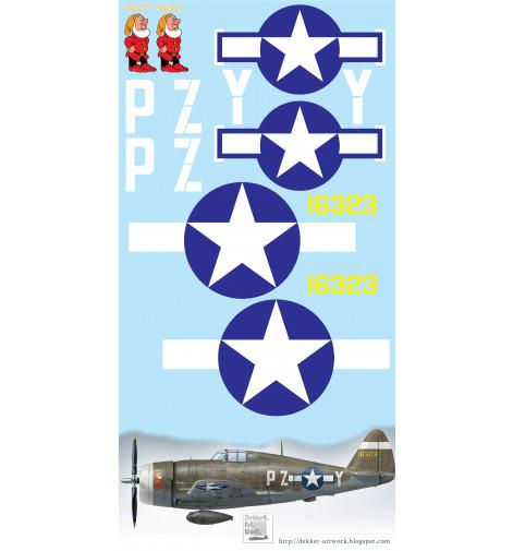 "P-47 Thunderbolt ""SNEEZY"" Vinyl Graphics"