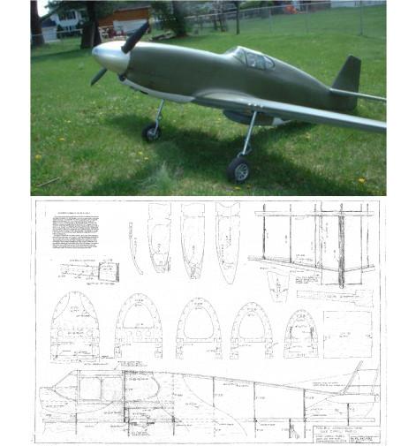 P-51B Mustang Plans