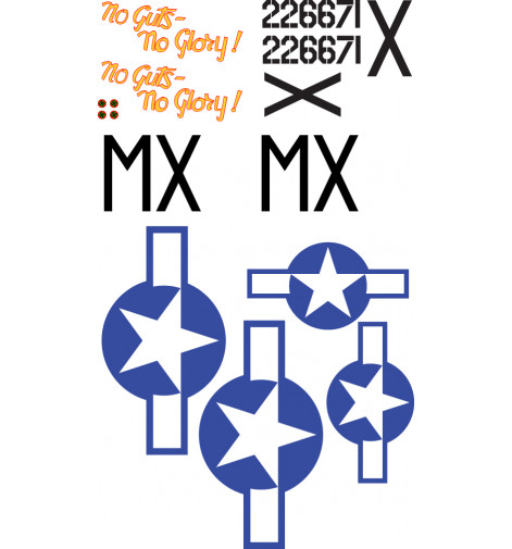 """P-47 Thunderbolt """"No Guts No Glory"""" Vinyl Graphics"""