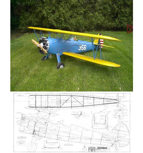 "PT-17 Kaydet/Stearman 87"" Plan"