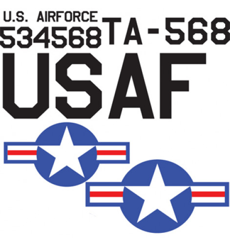AT-6 Yellow USAAF Vinyl Graphics
