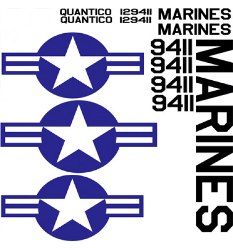 "AU-1 Corsair ""Quantico"" Vinyl Graphics"