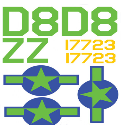 C-47/DC3 US Army Air Force D-Day Vinyl Graphics