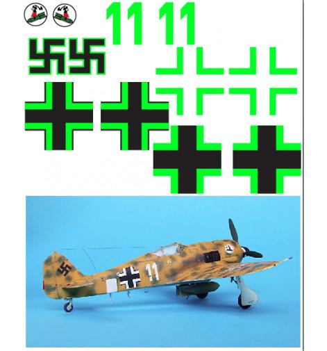 """FW-190 (""""Desert White 11"""") Vinyl Graphics"""