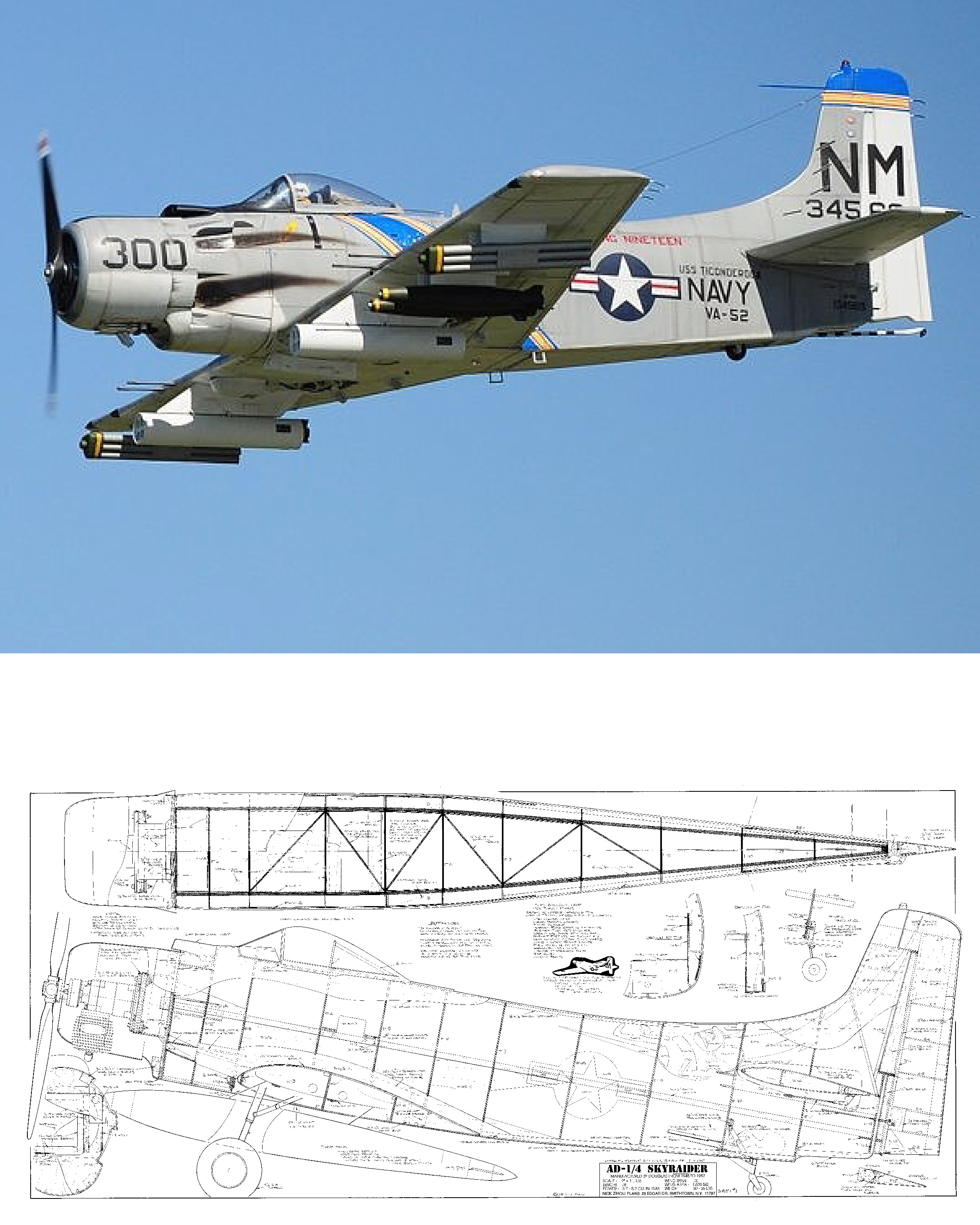 Ad 1 Skyraider Plan Nick Ziroli Scale Plans