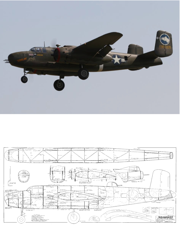 "B-25 Mitchell 118"" Plan"
