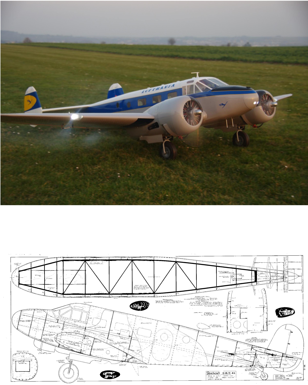 Beech D-18/C-45 Plan