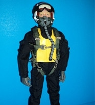 "Korean War RC Jet Pilot Figure 1/5~1/6 scale  12"" Tall"