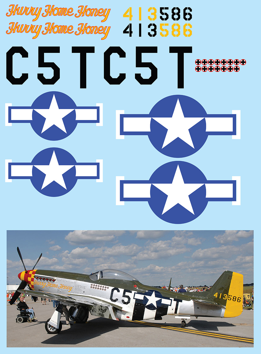 "P-51D Mustang (""Hurry Home Honey"") Vinyl Graphics"