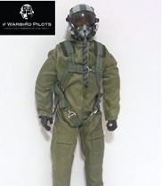 "Modern RC Jet Pilot Figure 1/8 scale  10"" Tall(green)"