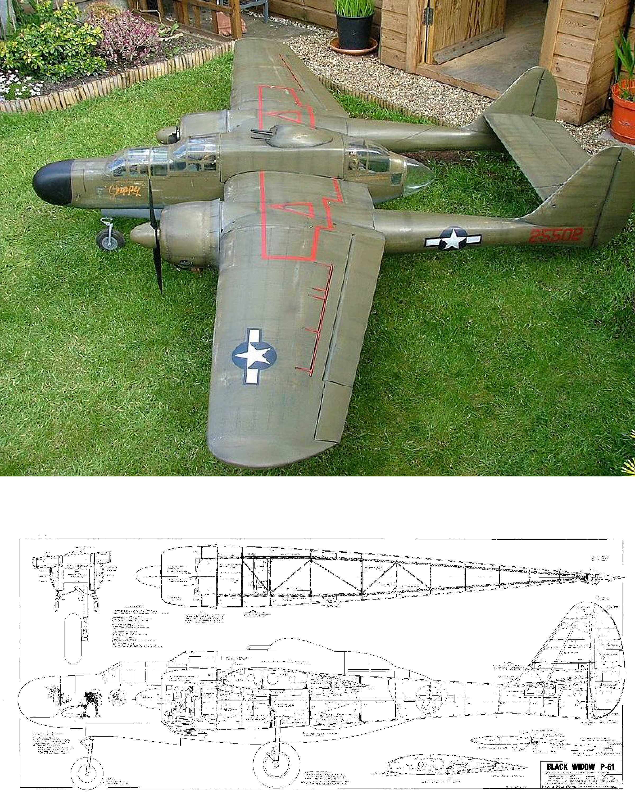 P-61 Black Widow Plan