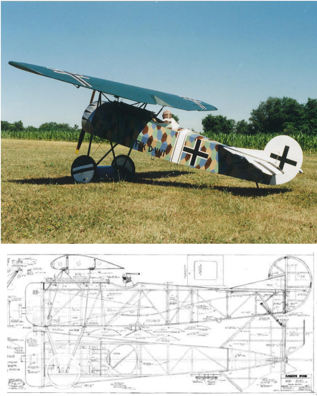Ron Weiss Fokker DVIII  Plan