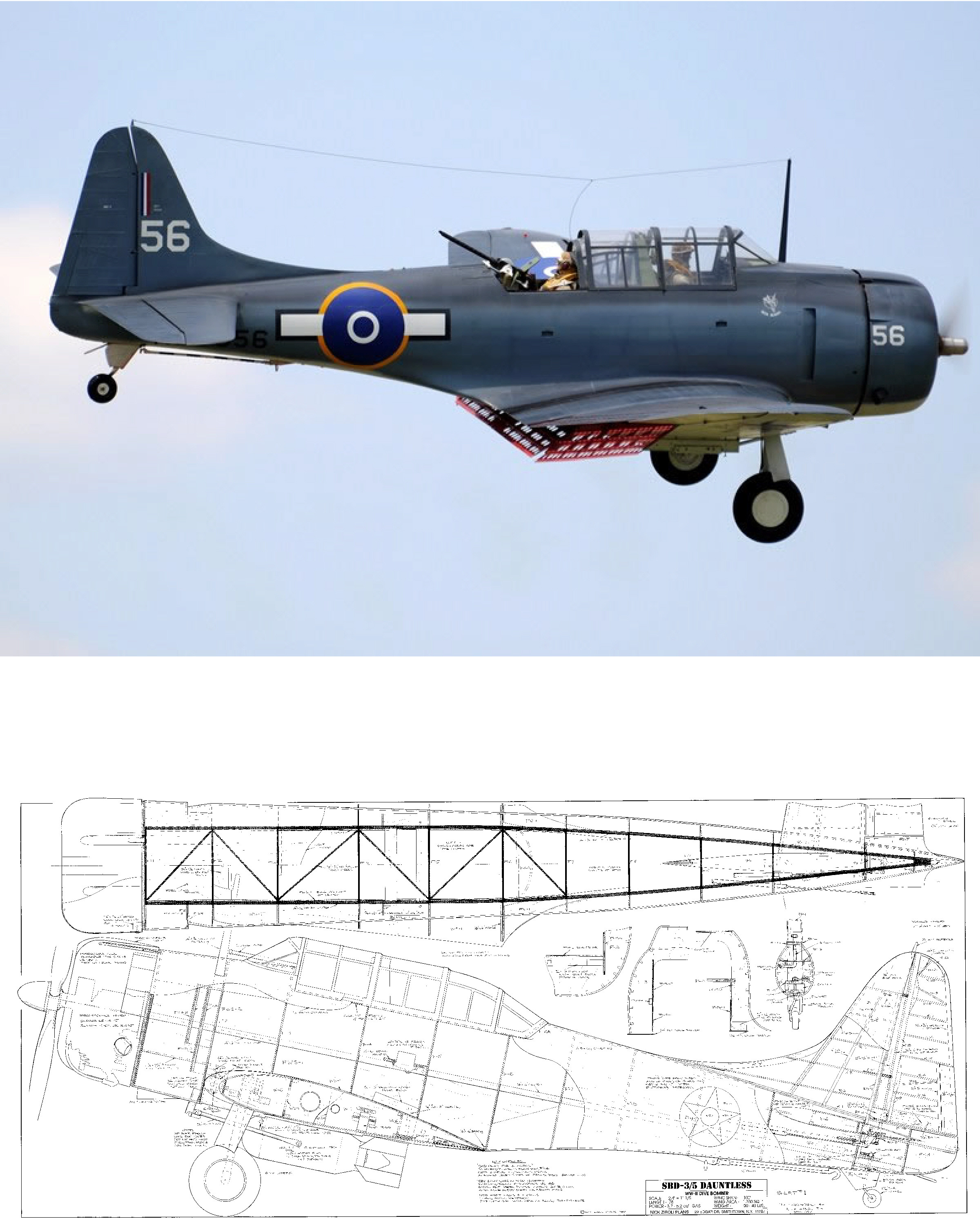 SBD Dauntless Plan