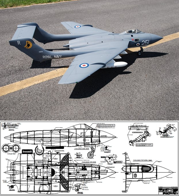 Sterner De Havilland DH.110 Sea Vixen Plan