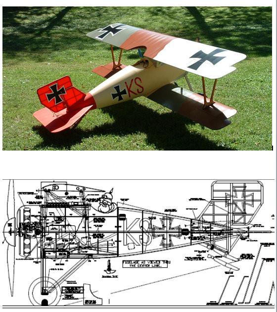 Sterner 1/3 Scale Siemens Schuckert SSW D.III Plan