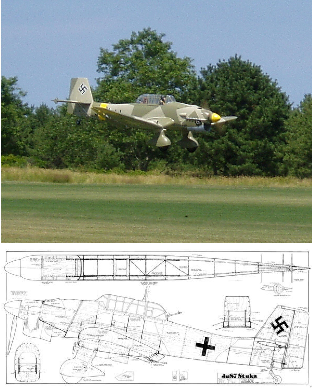 JU-87B Stuka Plan