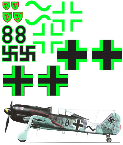 "FW-190 (""Black 8"") Vinyl Graphics"