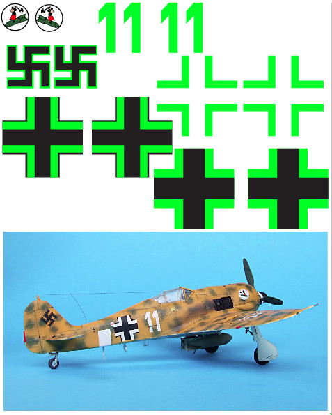 "FW-190 (""Desert White 11"") Vinyl Graphics"