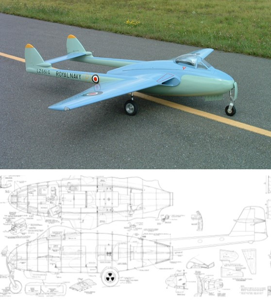 Sterner 1/5 Scale De Havilland DH.100 Vampire Plan