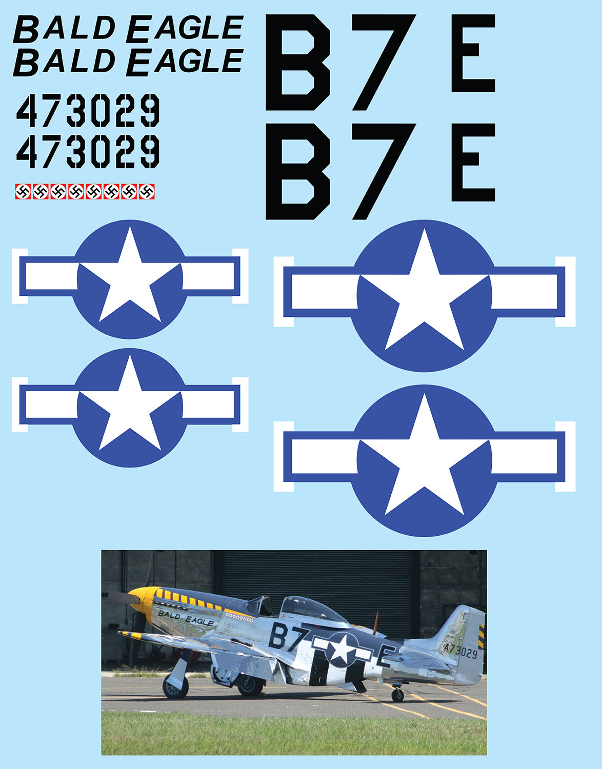"P-51 Mustang ""Bald Eagle"" Vinyl Graphics"
