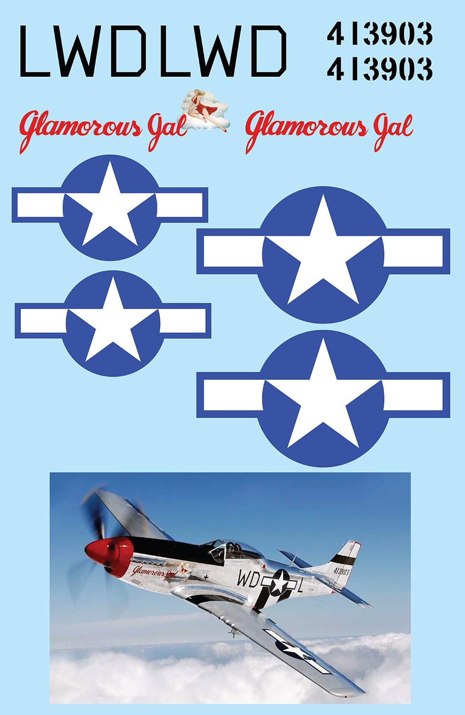 "P-51D Mustang (""Glamorous Gal"") Vinyl Graphics"