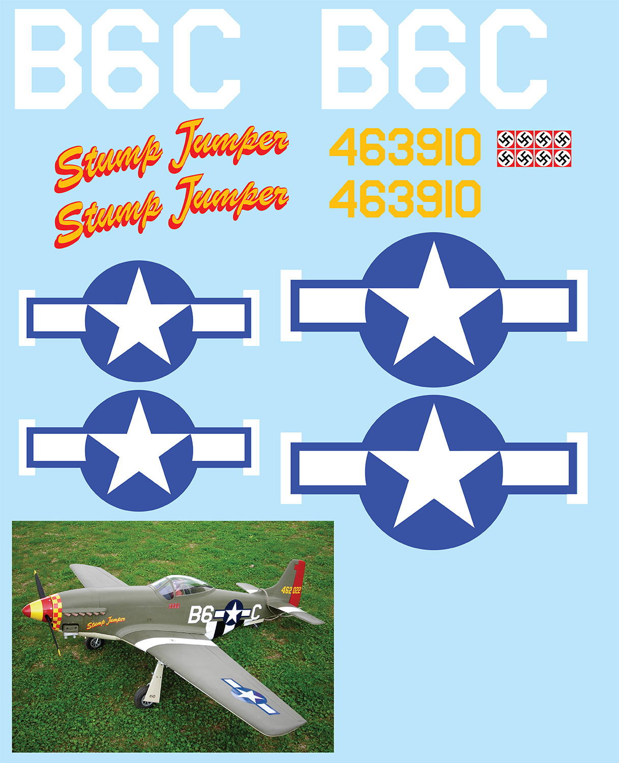 "P-51D Mustang (""Stump Jumper"") Vinyl Graphics"