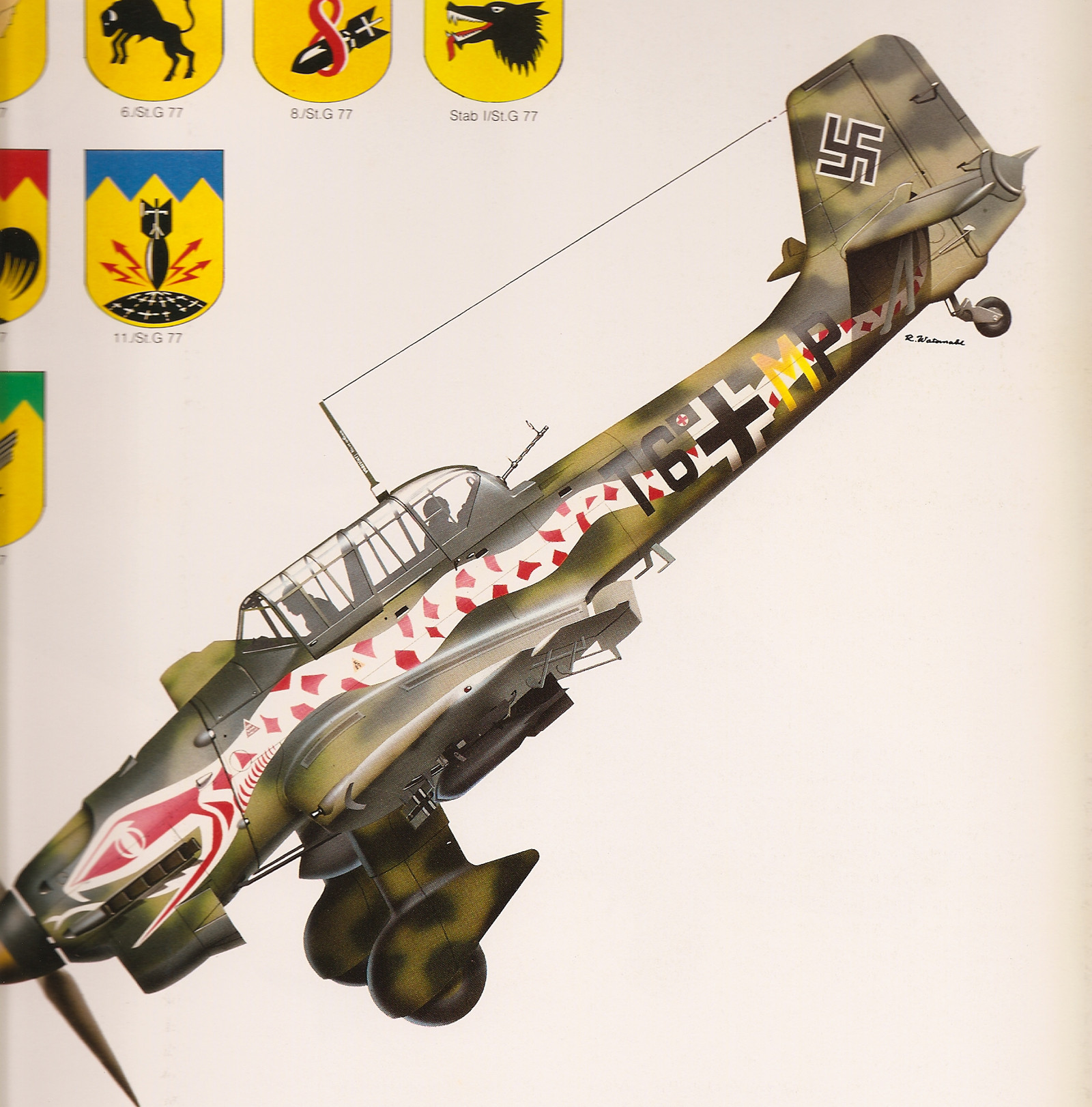 "JU-87 Stuka ""Snake"" Vinyl Graphics"