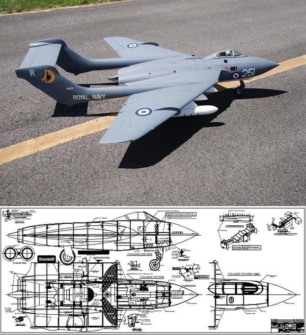 Sterner De Havilland Dh 110 Sea Vixen Plan