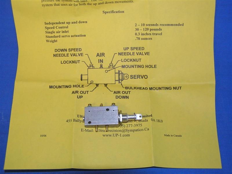 Ultra Precision Up 8 Retract Control Valve Fw 190